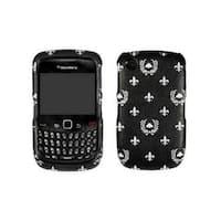OEM Verizon Blackberry Curve 2 8530 Snap On Case - Black with Floral Design (Bul