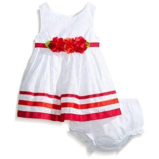 Sweet Heart Rose Infant Eyelet Casual Dress