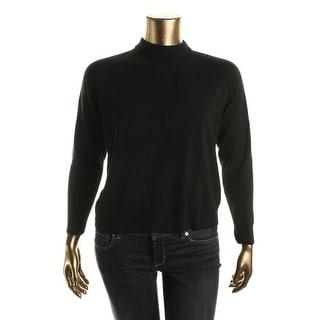 Karen Scott Womens Knit Mock Neck Sweater