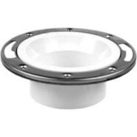 Oatey 43495 PVC Closet Flange Without Test Cap
