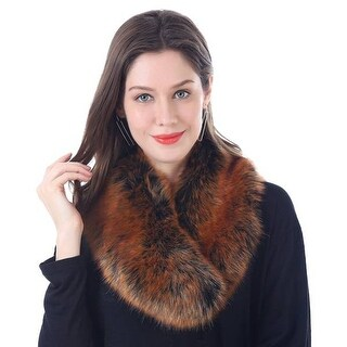 Mad Style Orange Faux-Fur Stole