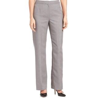 Kasper Separates NEW Gray Women's Size 8X33 Straight-Leg Dress Pants