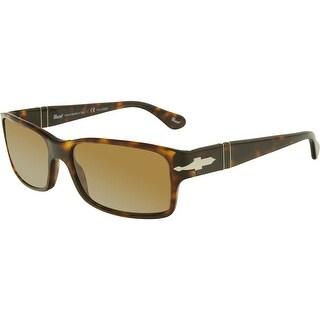 Persol Men's Polarized PO2803S-24/57-58 Tortoiseshell Rectangle Sunglasses
