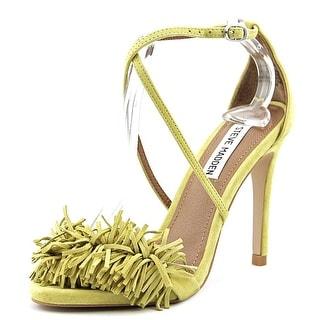Steve Madden Franceli Women Peep-Toe Suede Yellow Slingback Heel