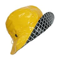 Karen Kane Women's Waterproof Patent Rain Floppy Hat with Toggle Sizer