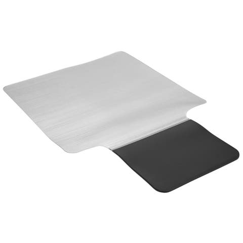 """53"""" Clear Contemporary Office Chair and Floor Mat"""