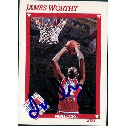 df873f7ee7f Shop Signed Worthy James Los Angeles Lakers 1991 NBA Hoops Basketball Card  autographed - Free Shipping On Orders Over $45 - Overstock - 17690282