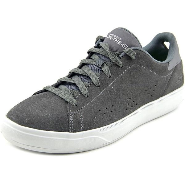 Skechers Go Vulc 2 Point Men Round Toe Suede Gray Walking Shoe