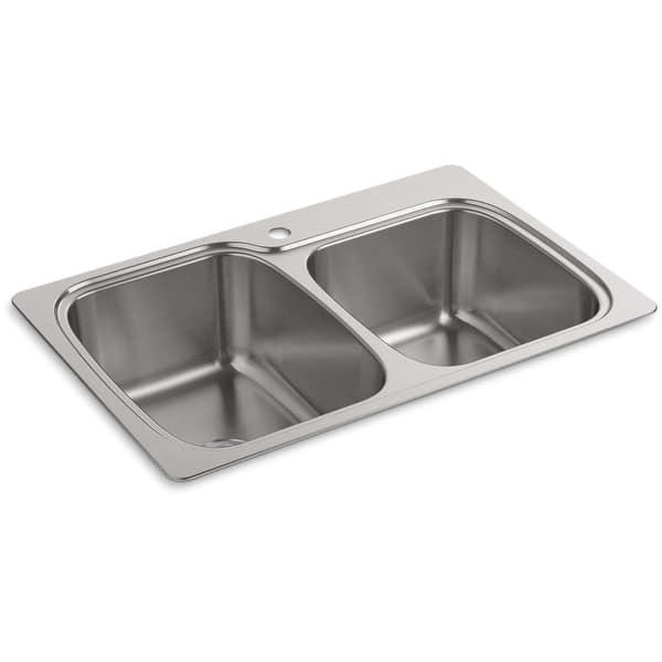 Shop Kohler K 75791 1 Verse 33 Double Basin Drop In Or Undermount