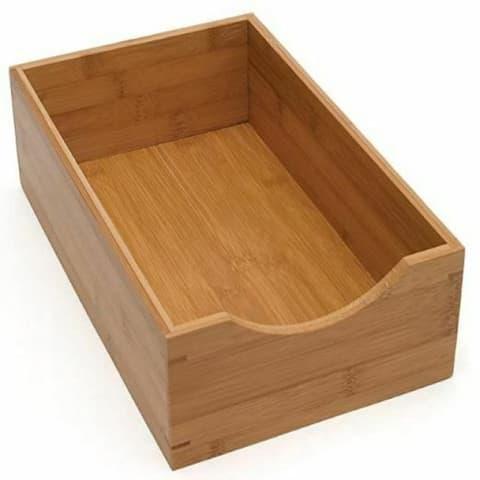 YBM HOME Bamboo Drawer Storage Organizer Box - 2