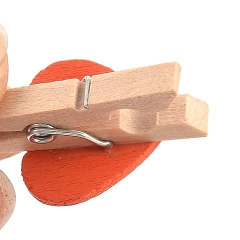 "Card Photo Love Heart Crafts Clothespin Pegs Mini Wooden Clip 20pcs - 1.2""x0.7""x0.4""(L*W*T)"