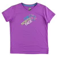 The North Face Girls Reaxion T Shirt Purple - purple/multi color