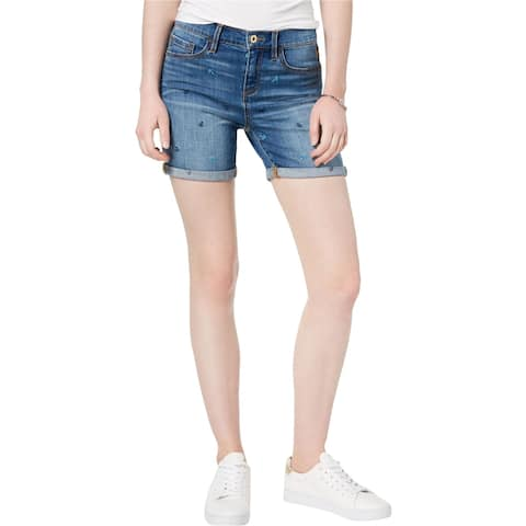 Tommy Hilfiger Womens Anchor Casual Denim Shorts