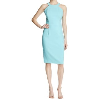 Black Halo Womens Marcelle Cocktail Dress Sheath High Neck
