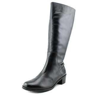Rose Petals by Walking Cradles Curly Round Toe Leather Mid Calf Boot