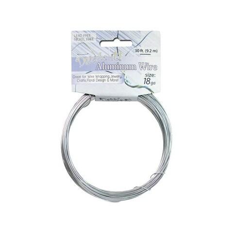 Dazzle It Aluminum Wire 18ga Rnd 30ft Silver