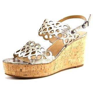 Vaneli Patrice Open Toe Synthetic Wedge Sandal