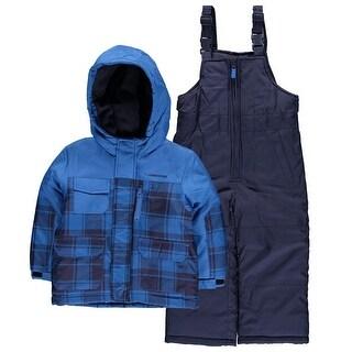 London Fog Boys 2T-4T Plaid Snowsuit