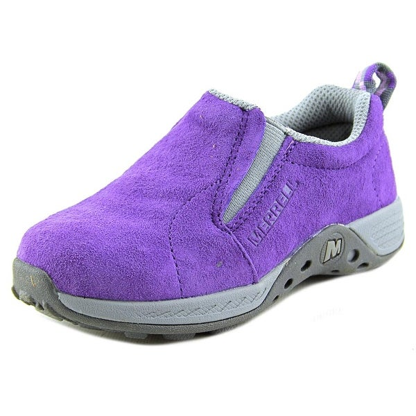 Merrell Jungle Moc Sport Youth Round Toe Leather Purple Sneakers