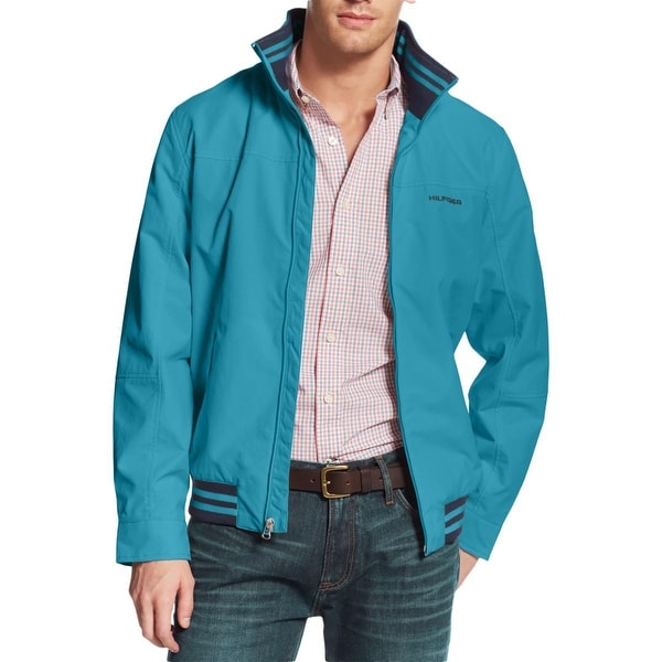 1bfac511 Shop Tommy Hilfiger Mens Regatta Jacket Water Resistant Mock Collar ...