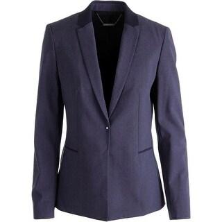 Elie Tahari Womens Darcy Wool Lined Blazer