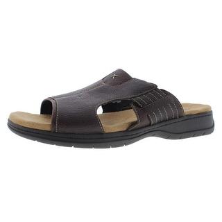 Dr. Scholl's Mens Tesh Leather Open Toe Slide Sandals - 12 medium (d)