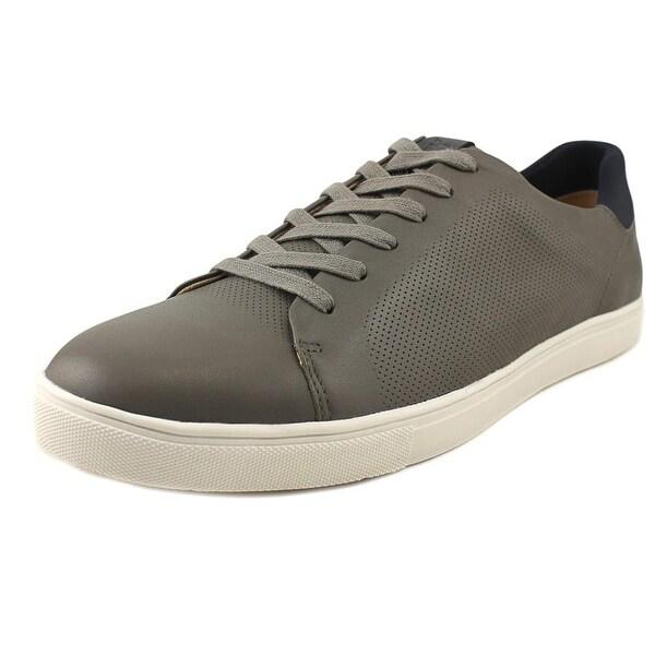 Sam Edelman Tyson Men Round Toe Leather Gray Sneakers
