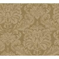 York Wallcoverings 922127 Metallics Book Damask Tapestry Wallpaper - Beige - N/A