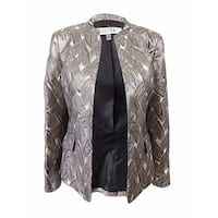 Kasper Women's Metallic Jacquard Jacket - Champagne Multi