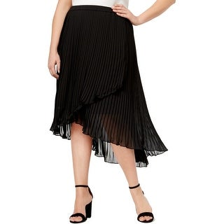 NY Collection Womens Plus Pleated Skirt Asymmetric Pull On - 2X