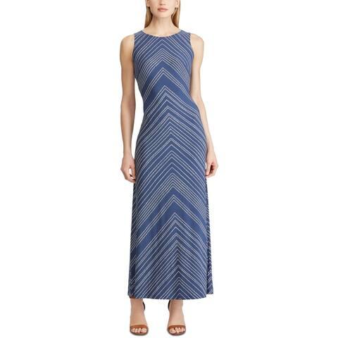American Living Women's Polka Dot Chevron Maxi Dress