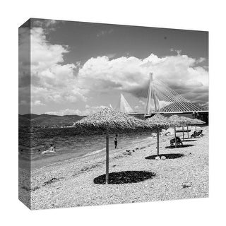 """PTM Images 9-126866  PTM Canvas Collection 12"""" x 12"""" - """"Beach in the Past"""" Giclee Children Art Print on Canvas"""