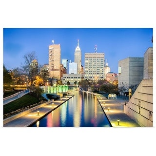 """""""Skyline, Indianapolis, Indiana"""" Poster Print"""