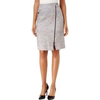 Kasper Womens A-Line Skirt Pencil Skirt Tweed