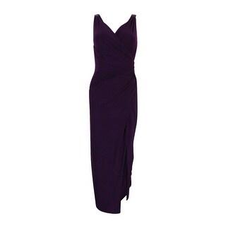 Lauren Ralph Lauren Women\u0027s Faux Wrap Ruched Gown