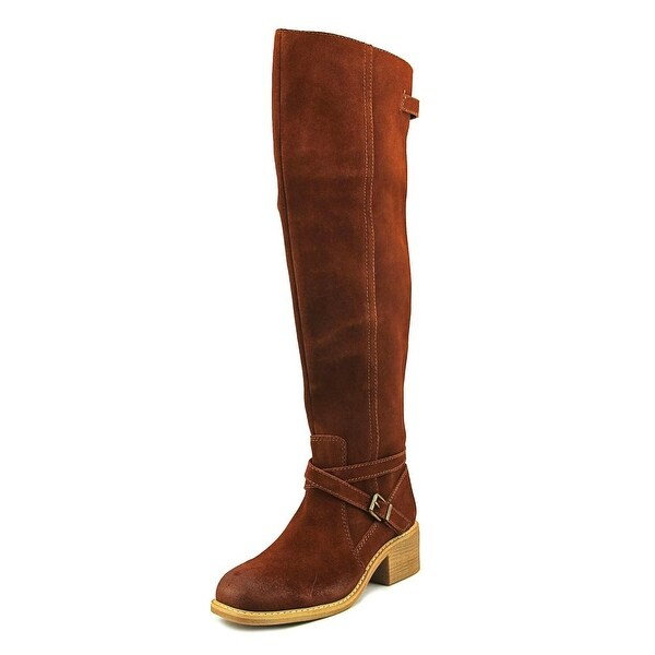Mojo Moxy Rebel Women Round Toe Suede Brown Over the Knee Boot