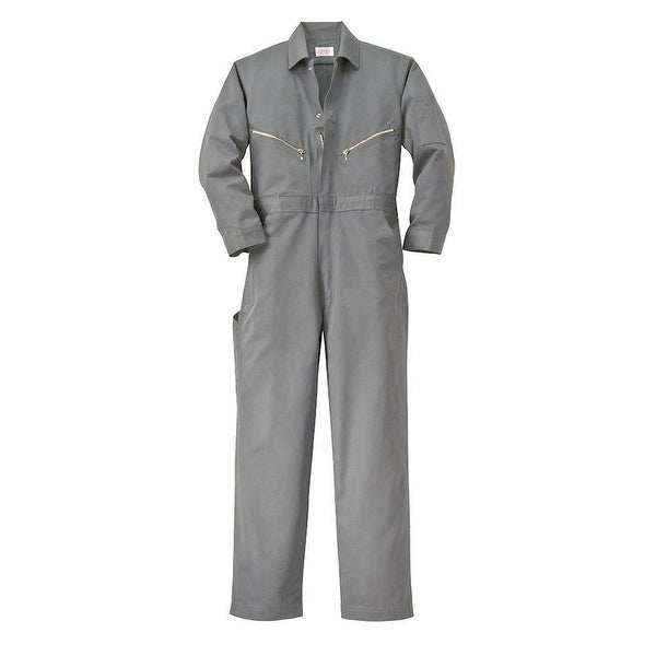 Walls Mens Grey 58 Tall Long Sleeve Twill Work Coverall