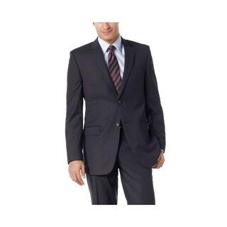 Calvin Klein CK Slim Fit Navy Blue Wool Striped Sportcoat 38 Regular 38R