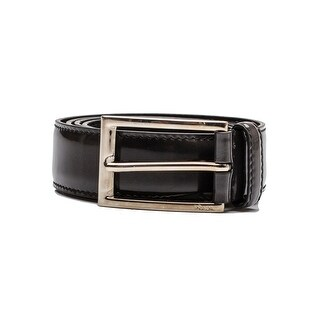 Prada Men's Patent Leather Belt Grey - 90