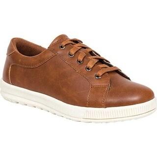 Deer Stags Boys' Kane Sneaker Dark Tan/Cream Simulated Leather