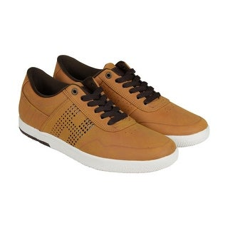 HUF Hufnagel 2 Mens Tan Leather Lace Up Sneakers Shoes