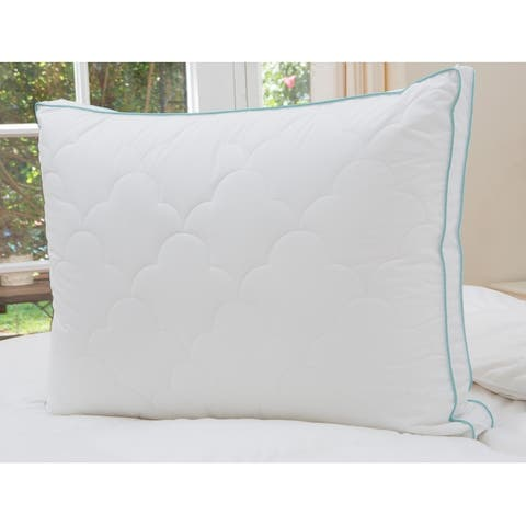 Cozy Classics Bounce Back Gusseted Pillow - White