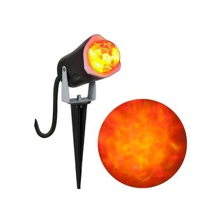 Halloween LED Lightshow Projection: Whirl-A-Motion Fire and Ice (Orange)