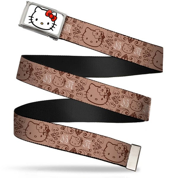 Hello Kitty Face Fcg White Chrome Frame Hello Kitty Multi Face Web Belt