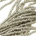 Thumbnail 1, Czech Single Cut Charlotte Seed Beads 13/0 Metallic Grey Terra 1/2 Hank.