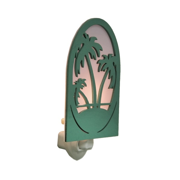 Green Palm Trees Tropical Plug In Night Light