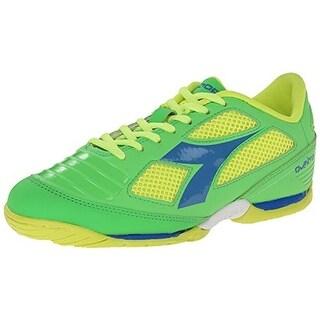 Diadora Mens Quinto IV Indoor Patent Colorblock Soccer Shoes - 4.5