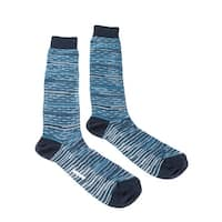 Missoni GM00CMU5245 0003 Turquoise/Navy Knee Length Socks - M