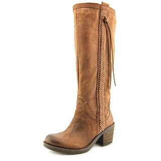 Nine West Thora   Round Toe Leather  Knee High Boot
