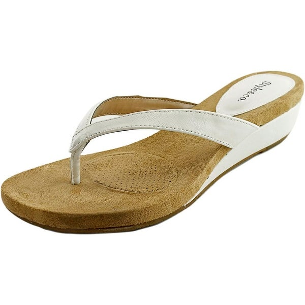 Style & Co Haloe Women Open Toe Synthetic White Wedge Sandal